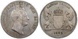 World Coins - GERMAN STATES Baden Leopold I 1832 Kronenthaler (taler) EF