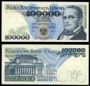 World Coins - POLAND Narodowy Bank Polski 1 February 1990 100000 Zlotych EF+
