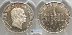 World Coins - GERMAN STATES Prussia Wilhelm I 1871-A Silbergroschen PCGS PF-65 CAM