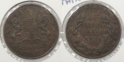 World Coins - INDIA: 1835-B 1/4 Anna