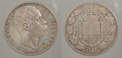 World Coins - ITALY: 1897-R 2 Lire