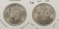 World Coins - MALAYA: 1943 George VI 20 Cents