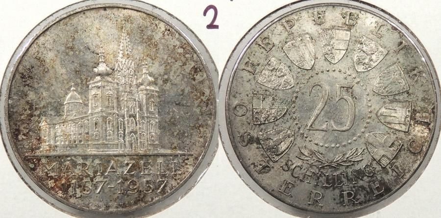 World Coins - AUSTRIA: 1957 Mariazell 25 Schillings #WC63854