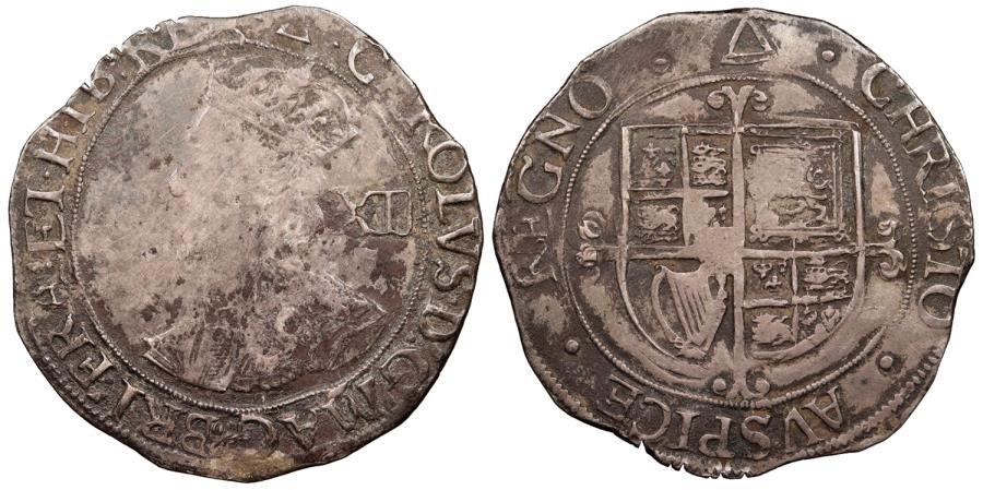 World Coins - ENGLAND Charles I 1625-1649 Shilling 1639-1640 VF