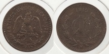 World Coins - MEXICO: Revolution 1915-Mo Centavo