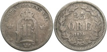World Coins - SWEDEN: 1875 25 Ore