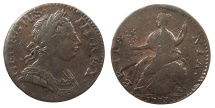 World Coins - GREAT BRITAIN George III 1773 Contemporary Counterfeit Halfpenny VF
