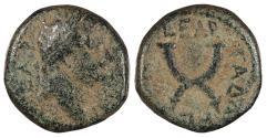 Ancient Coins - Syria Decapolis Gadara Titus, as Caesar 69-79 A.D. AE16 Gadara mint Fine