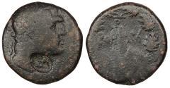 Ancient Coins - Phoenicia Tyre Pseudo-autonomous coinage 37 B.C. - 67 A.D. AE22 Tyre Mint Fine