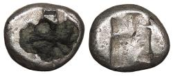 Ancient Coins - Achaemenid Kings Time of Darios I to Xerxes II c. 485-420 B.C. Fourée Siglos About Fine