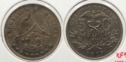 World Coins - BOLIVIA: 1919 5 Centavos