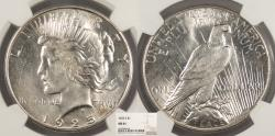 Us Coins - 1925 S Peace 1 Dollar (Silver) NGC MS-61