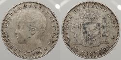 World Coins - PUERTO RICO: 1895-PG V 20 Centavos