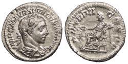 Ancient Coins - Severus Alexander 222-235 A.D. Denarius Rome Mint EF
