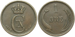 World Coins - DENMARK: 1879 1 Ore