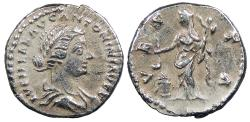 Ancient Coins - Lucilla, wife of Lucius Verus 164-169 A.D. Denarius Rome Mint Good VF