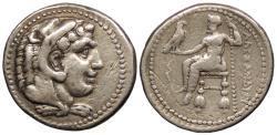 Ancient Coins - Kings of Macedon Alexander III (The Great) 336-323 B.C. Tetradrachm VF