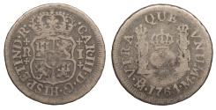 World Coins - MEXICO Carlos (Charles) III 1764-Mo Real About Fine