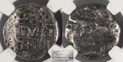 World Coins - PERU Philip V 1739-L V 4 Reales NGC Genuine