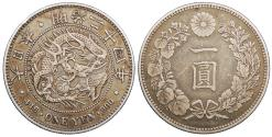World Coins - JAPAN Mutsuhito (Meiji) Yr. 34 (1901) Yen EF