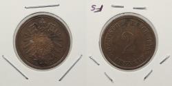 World Coins - GERMANY: 1875-D 2 Pfennig