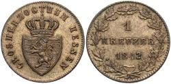 World Coins - GERMAN STATES: Hesse-Darmstadt 1842 1 Kreuzer