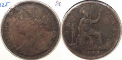 World Coins - GREAT BRITAIN: 1877 Victoria Penny