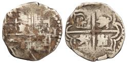 World Coins - BOLIVIA Philip II ND (1586-1598) Cob Real Near VF