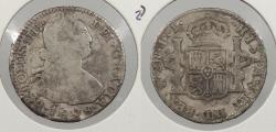 World Coins - BOLIVIA: 1818-PTS PJ Charles IV 2 Reales