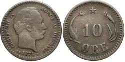 World Coins - DENMARK: 1874 10 Ore