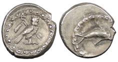 Ancient Coins - Phoenicia Tyre 393-310 A.D. 1/24 Shekel Near EF