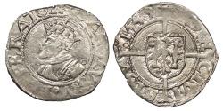 World Coins - FRANCE Besançon Charles V, as Holy Roman Emperor 1530-1556 1/2 Blanc 1549 EF