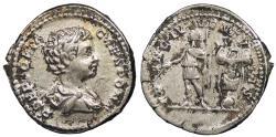 Ancient Coins - Geta, as Caesar 198-209 A.D. Denarius Rome Mint Near EF