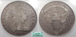 Us Coins - 1800 Draped Bust; Heraldic Eagle 1 Dollar (Silver) BB-196; B-17 ICG EF-40