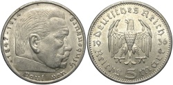 World Coins - GERMANY: 1936 A 5 Reichsmark