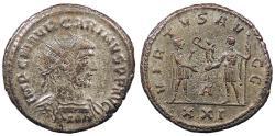 Ancient Coins - Carinus 283-285 A.D. Antoninianus Antioch Mint VF
