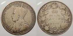 World Coins - CANADA: 1914 George V 50 Cents