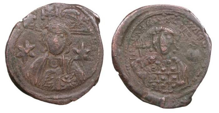 Ancient Coins - Michael VII, Ducas 1071-1078 A.D. Follis VF