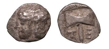 Ancient Coins - Troas Tenedos Circa 550-470 B.C. Obol VF