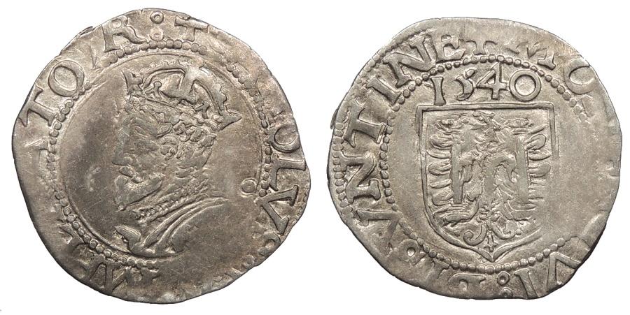 World Coins - FRANCE Besançon Charles V, as Holy Roman Emperor 1530-1556 Blanc 1540 Good VF