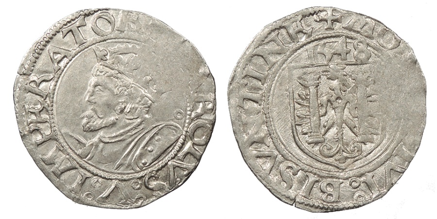 World Coins - FRANCE Besançon Charles V, as Holy Roman Emperor 1530-1556 Blanc 1548 EF
