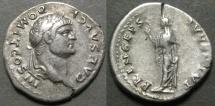 Ancient Coins - Domitian, Caesar, AD 69-79, AR Denariius, 3.5g
