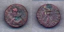 Ancient Coins - Indo-Parthians, Orthagnes, AD 35-55, AE Tetradrachm (7.7g)