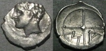 Ancient Coins - Gaul, Massalia, after 400 BC, AR Obol