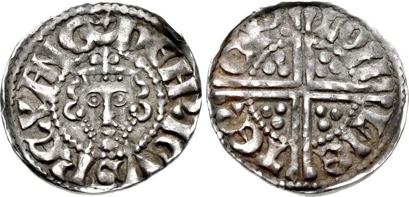 World Coins - PLANTAGENET. Henry III. 1216-1272. AR Penny (18mm, 1.48 g, 3h). Class 1b. London mint; im: star in crescent. Struck 1247-1248.