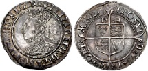 World Coins - <b>TUDOR. Elizabeth I. </b>1558-1603. AR Sixpence (25mm, 2.88 g, 5h). Third coinage. Tower (London) mint; im: pheon. Dated 1564/2.