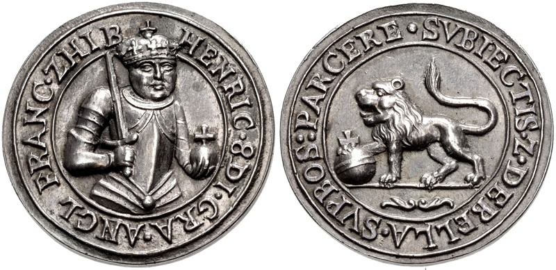 World Coins - TUDOR. Henry VIII. 1509-1547. AR Medal (33mm, 22.61 g, 12h).