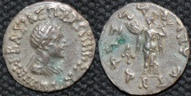 INDO-GREEK: Menander I Silver drachm, bare-headed type.