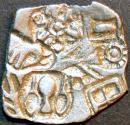 Ancient Coins - INDIA, MAGADHA: Series I AR punchmarked karshapana GH 258. RARE and SUPERB!