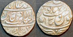 Ancient Coins - BRITISH INDIA, BENGAL PRESIDENCY: AR rupee in the name of Shah Alam II naming Henry Wellesley, Bareli, AH 1217. SUPERB!